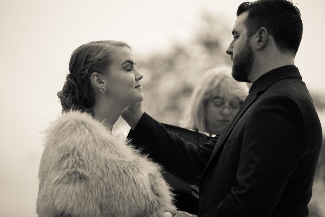 winter wedding photographer Sapphire Point