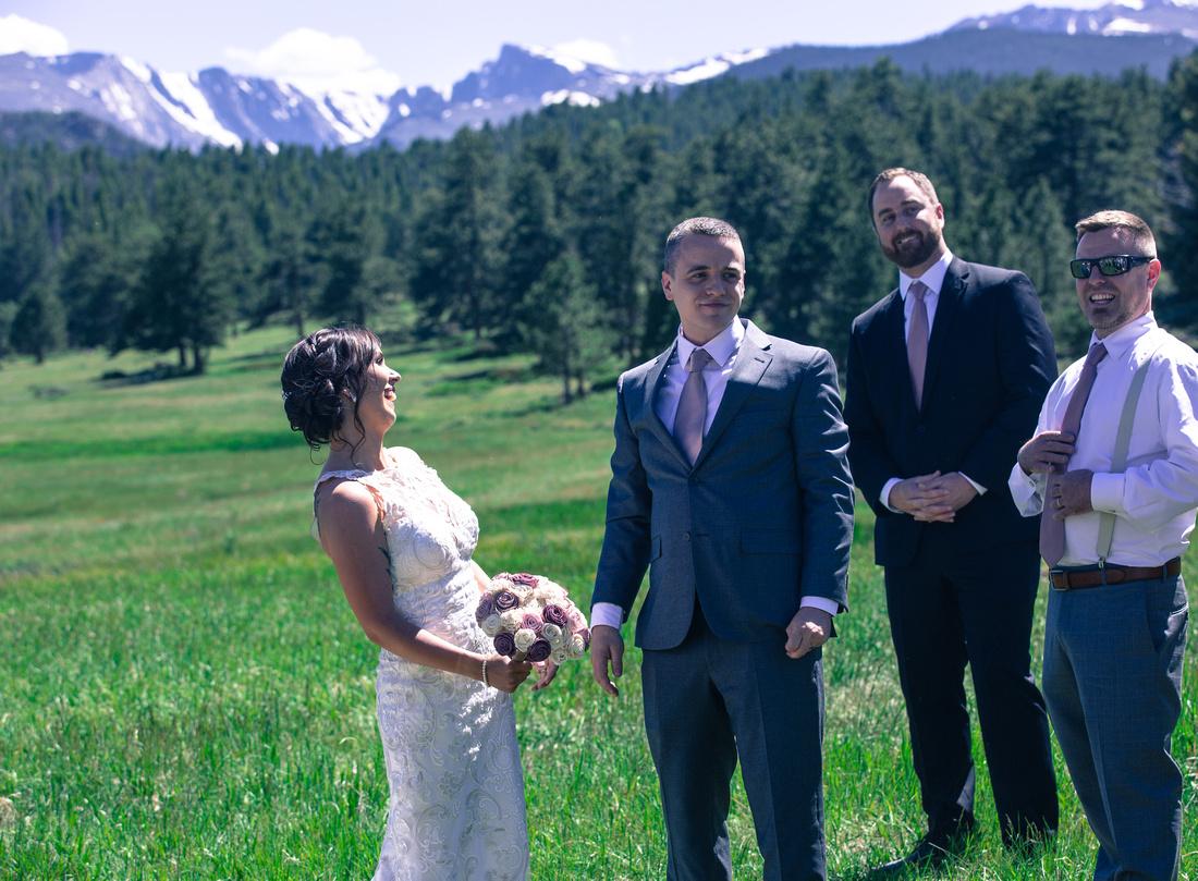 small wedding photography Vail, Sapphire Point, Breckenridge