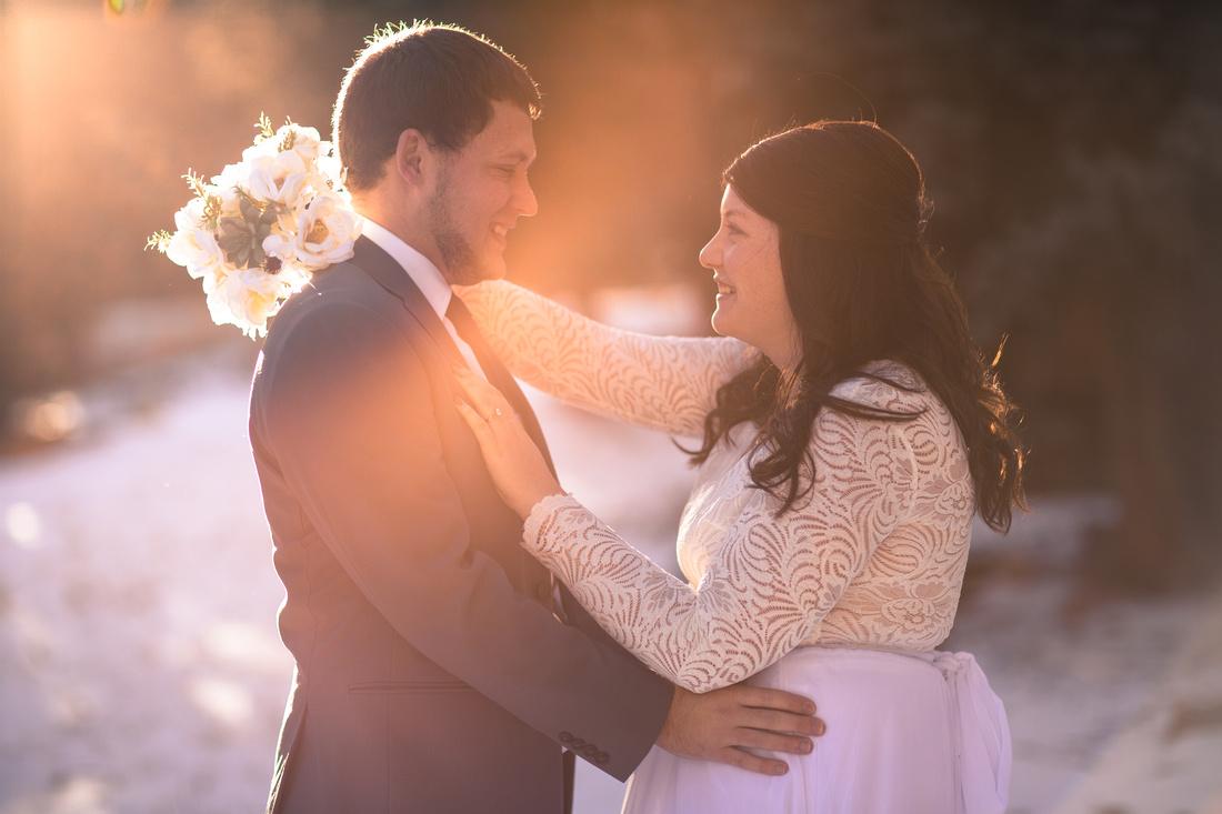 Winter wedding photographer Vail