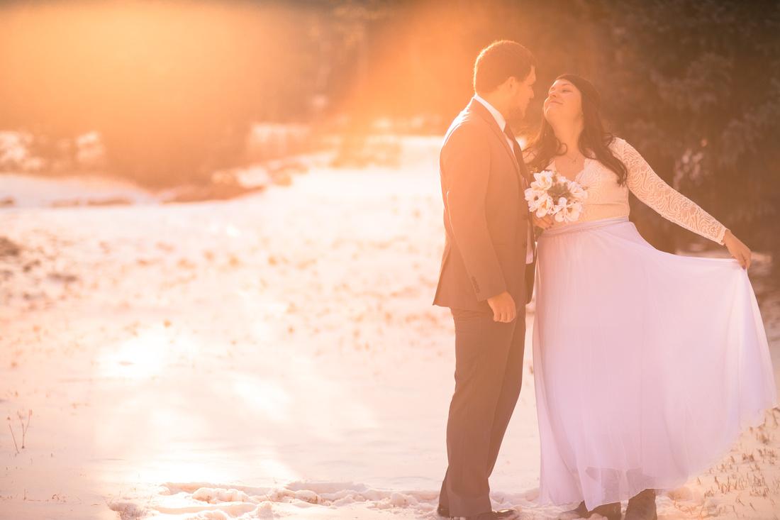 Winter wedding photographer Denver Colorado