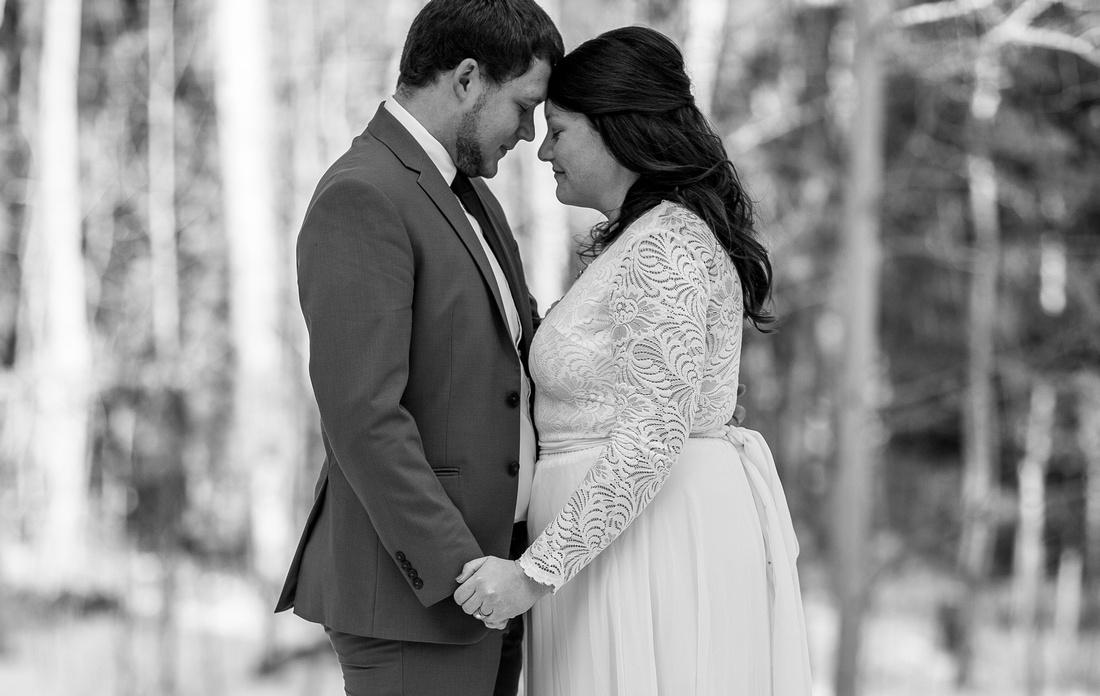 small wedding photographer Grand Lake Colorado