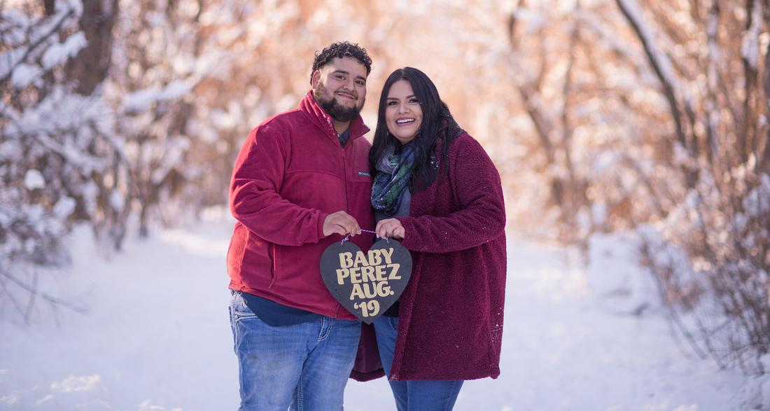 winter couple photographer Denver