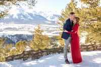 Engagement photography Sapphire Point Colorado