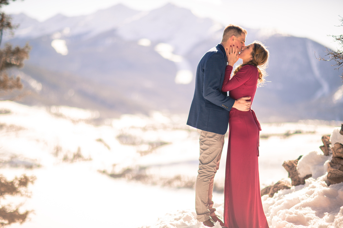 engagement photography breckenridge colorado