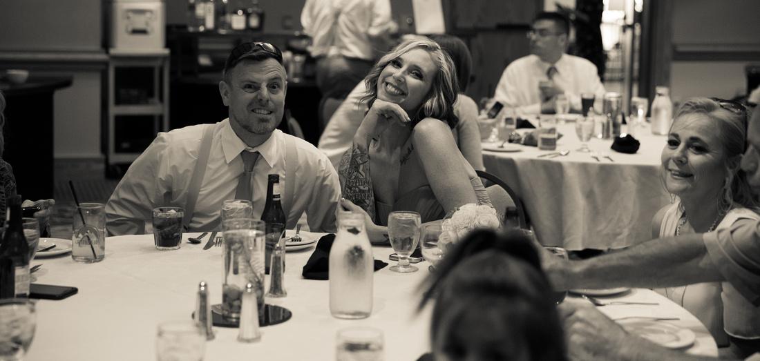 Wedding party at reception Estes Park