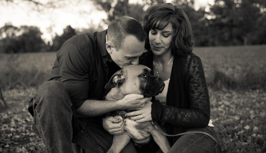 Family and dog photography in Washington Park Colorado, Pet photography in Colorado, Couple with dog portraits Washington Park